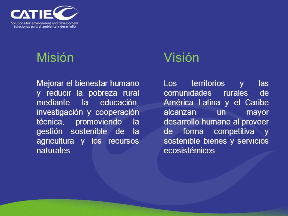 Misión Mejorar el bienestar humano y reducir la pobreza rural mediante la educación, investigación y cooperación técnica, promoviendo la gestión soste