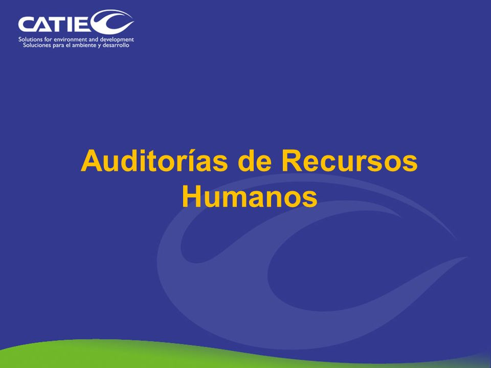 Auditorías de Recursos Humanos