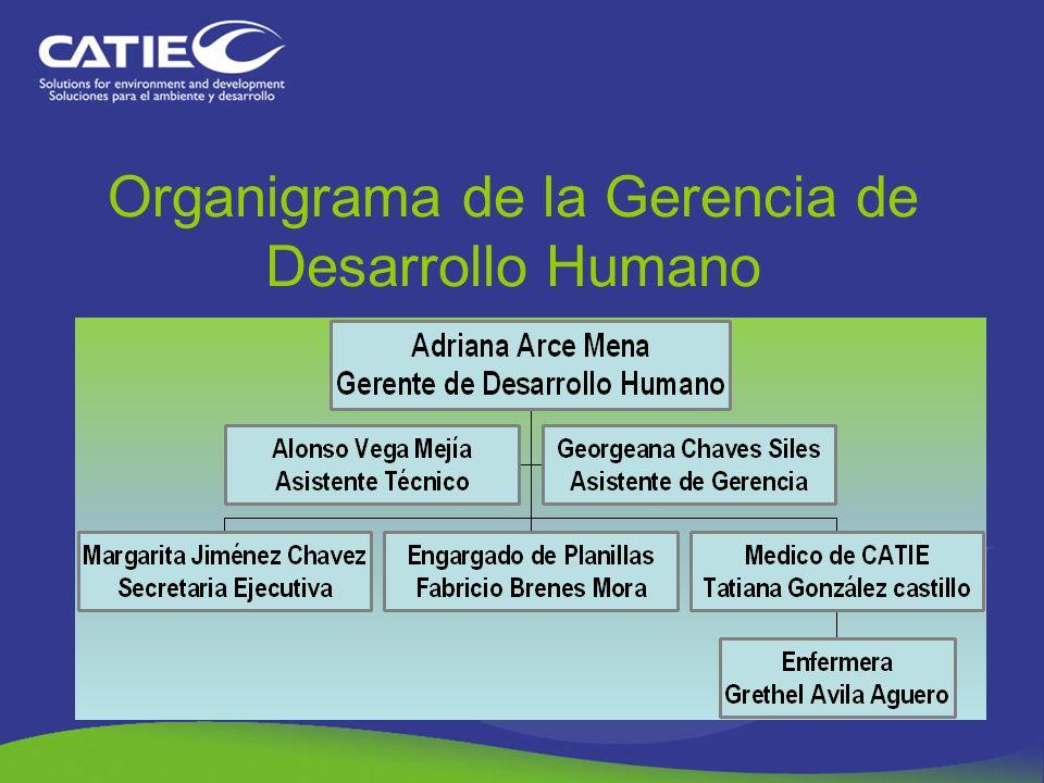Adriana Arce Mena, Gerente de Desarrollo Humano Alonso Vega Mejía, Asistente Técnico Georgeana Chaves Siles, Asistente de Desarrollo Humano