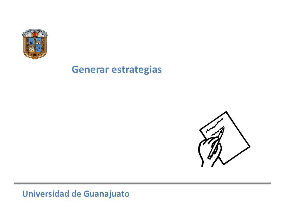 Métodos para generarlas Universidad de Guanajuato Reglas y hábitos Reducir opciones