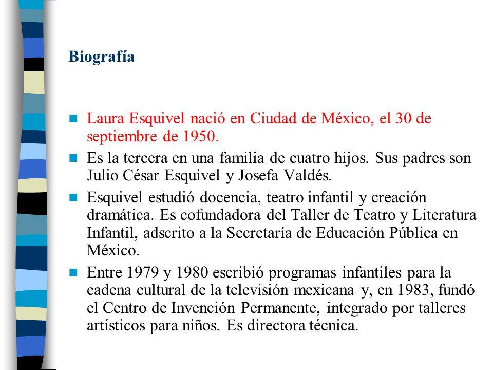 En 1993 Esquivel se introdujo en la creación de guiones cinematográficos, debutando en 1985 con el guión de la película Chido One, nominada por su argumento para el premio Ariel de la Academia de Ciencias y Artes Cinematográficas de México.