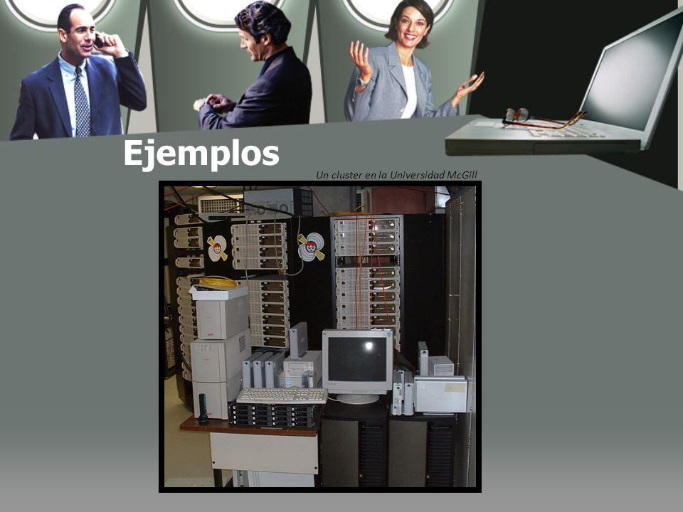 Ejemplos Un cluster en la Universidad McGill