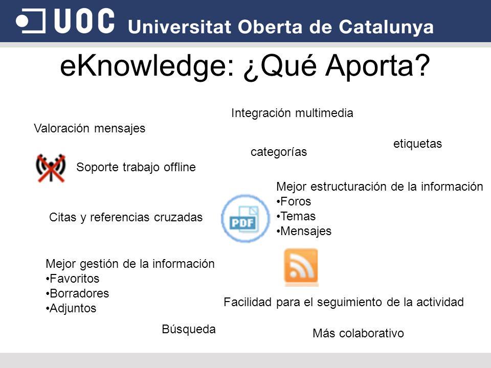 eKnowledge: ¿Qué Aporta.