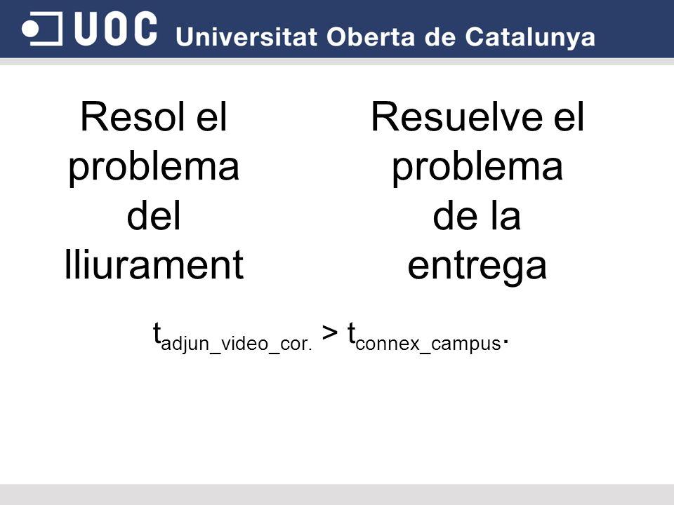 Resol el problema del lliurament t adjun_video_cor.