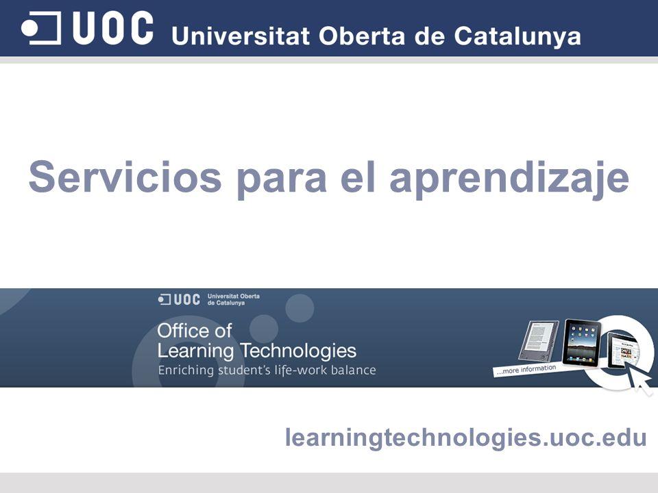 Servicios para el aprendizaje learningtechnologies.uoc.edu