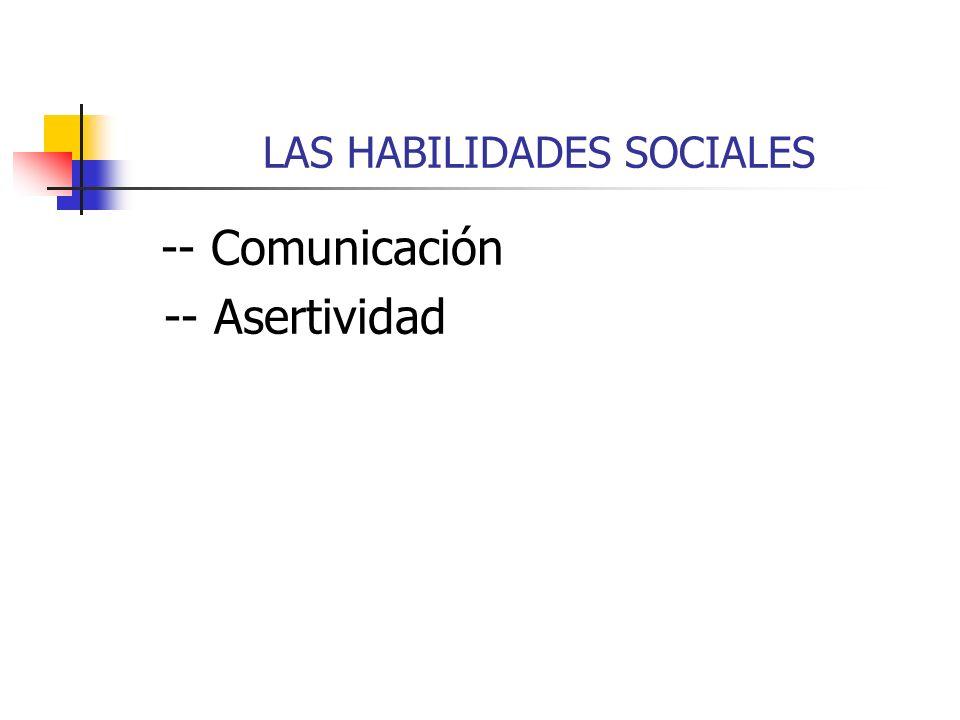 LAS HABILIDADES SOCIALES -- Comunicación -- Asertividad