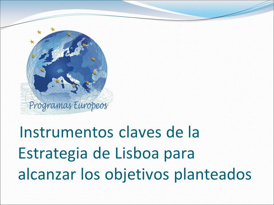 Instrumentos claves de la Estrategia de Lisboa para alcanzar los objetivos planteados