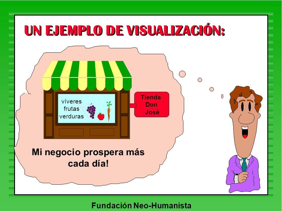 Fundación Neo-Humanista UN EJEMPLO DE VISUALIZACIÓN: Tienda Don José víveres frutas verduras Mi negocio prospera más cada día!