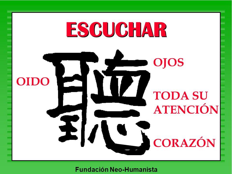 Fundación Neo-Humanista ESCUCHAR OJOS TODA SU ATENCIÓN CORAZÓN OIDO