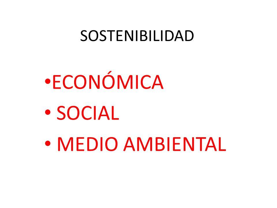 SOSTENIBILIDAD ECONÓMICA SOCIAL MEDIO AMBIENTAL