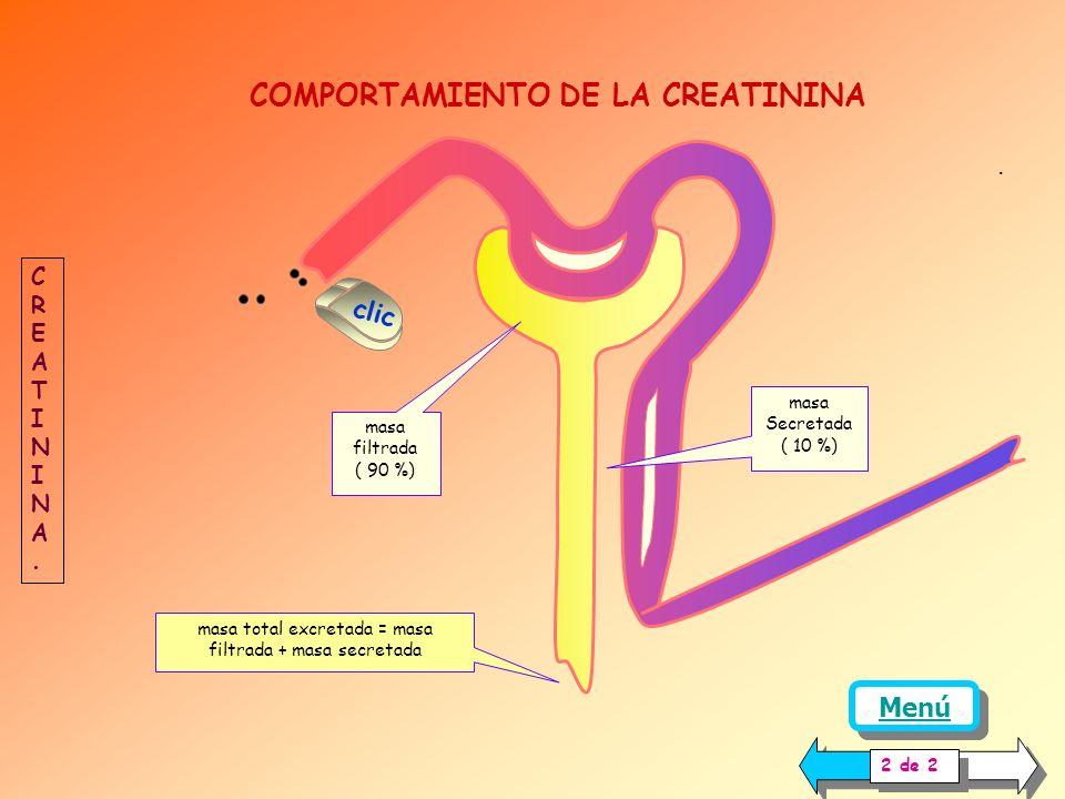 PROCEDIMIENTO: Dado que la producción de creatinina por día es más o menos constante, para la determinación de su depuración se recolecta la orina de