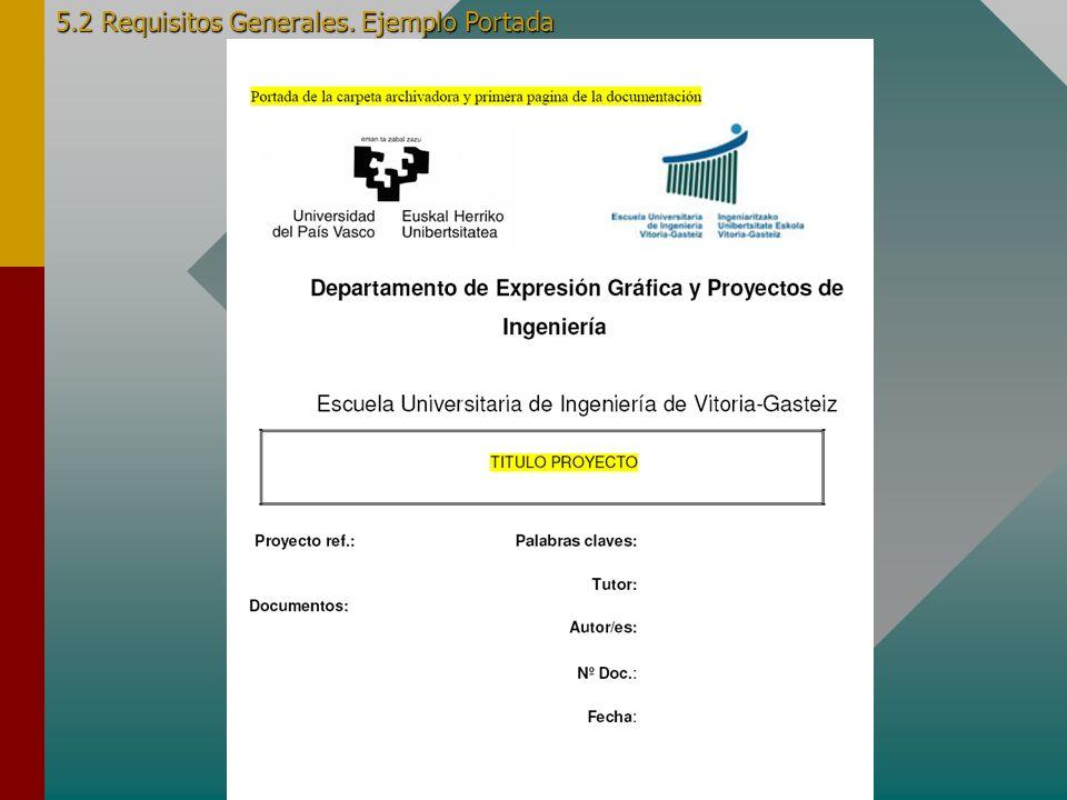 6.2 Requisitos Generales. Ejemplo Página