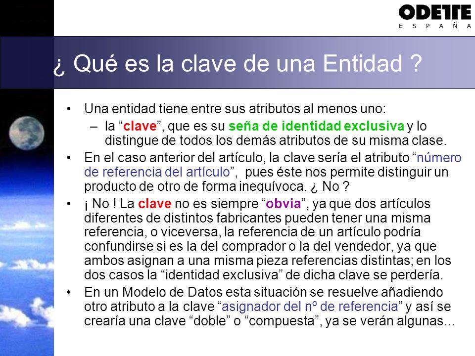 Relaciones entre Entidades Un Modelo de Datos puede servir como catálogo de referencia para un Glosario de términos y conceptos, pero ésta no es su principal finalidad.