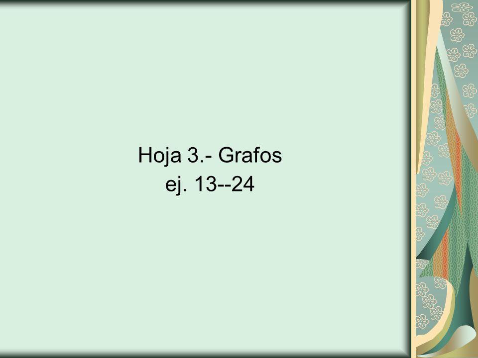 Hoja 3.- Grafos ej. 13--24