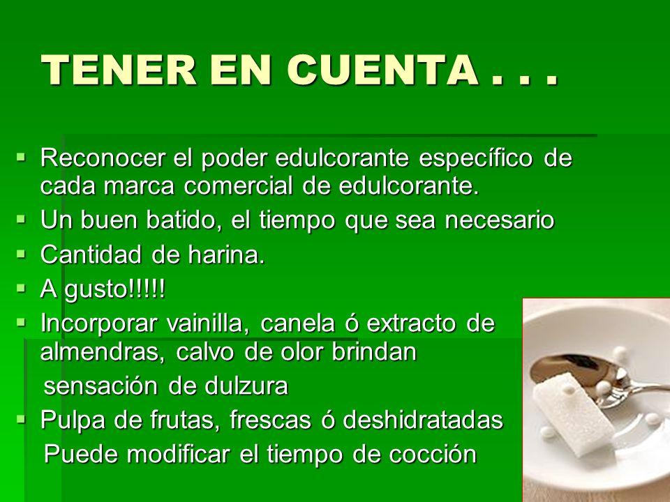 TENER EN CUENTA...