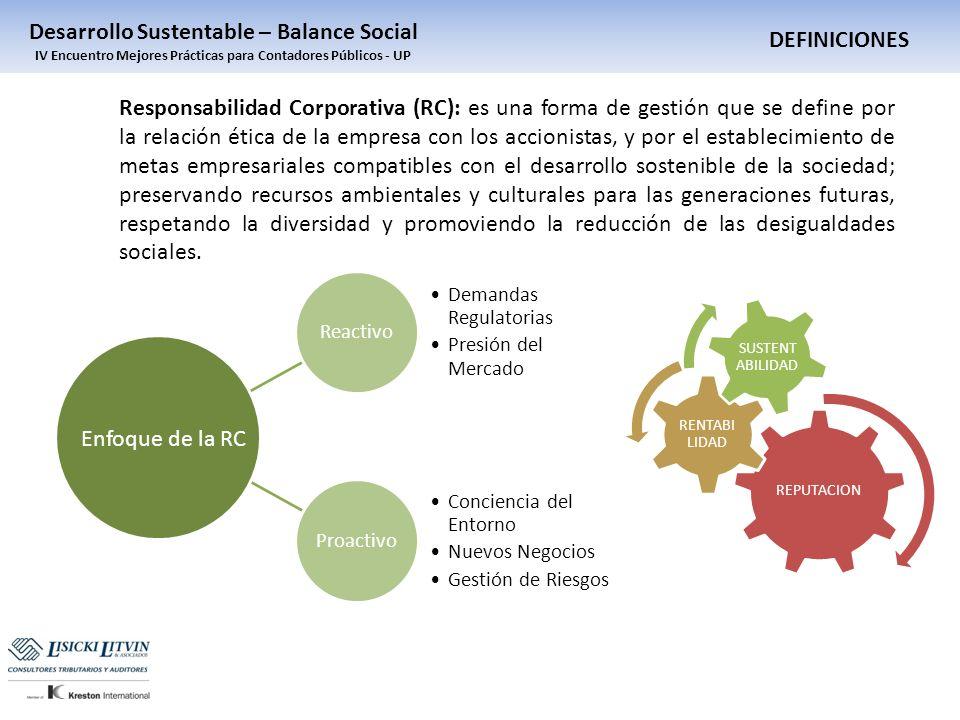 Responsabilidad Corporativa (RC): es una forma de gestión que se define por la relación ética de la empresa con los accionistas, y por el establecimie