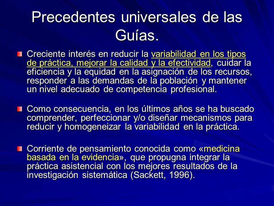 Precedentes locales Guías de prevención y manejo de las ECNT en Cienfuegos 1994.
