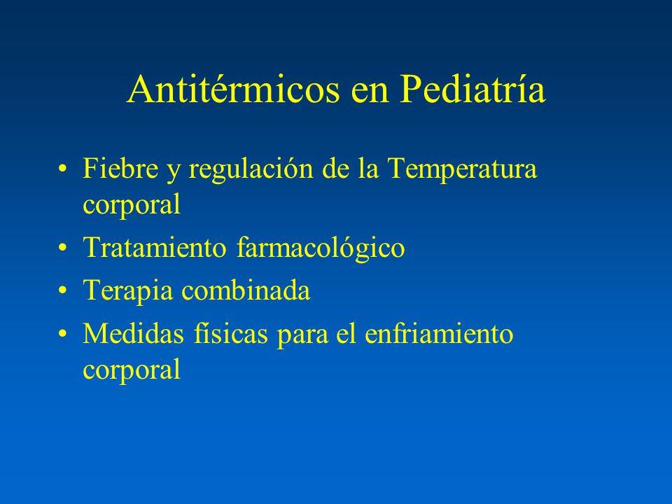 Antitérmicos en Pediatría Fiebre y regulación de la Temperatura corporal Tratamiento farmacológico Terapia combinada Medidas físicas para el enfriamie