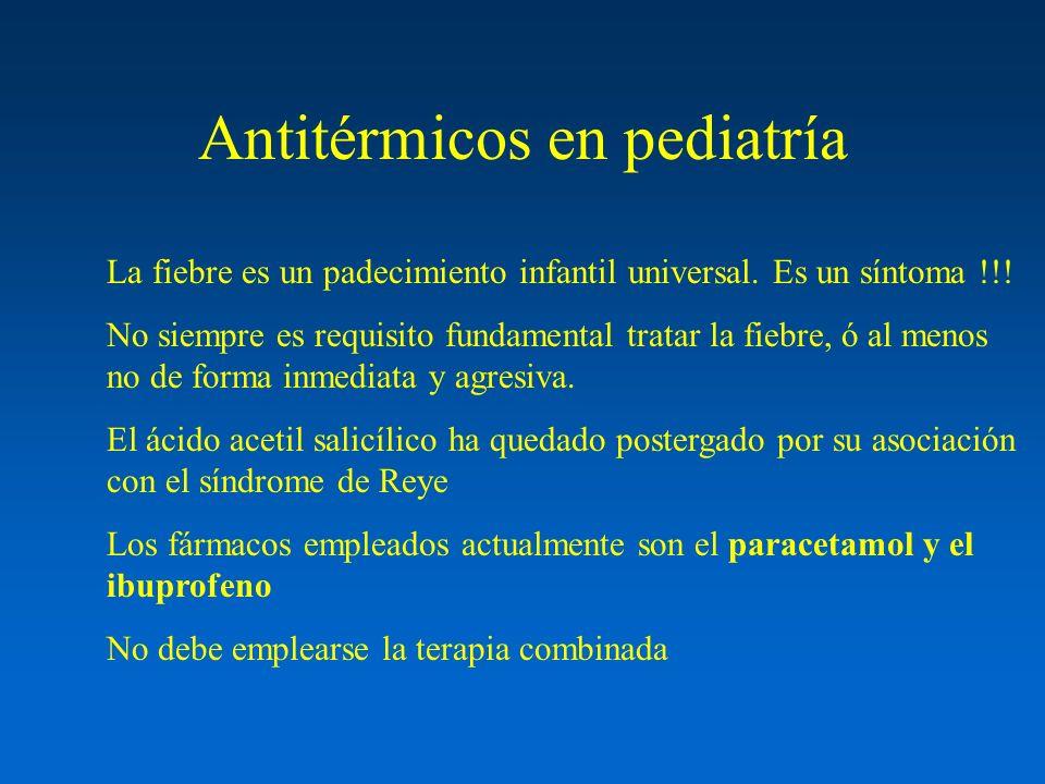 Antitérmicos en pediatría La fiebre es un padecimiento infantil universal. Es un síntoma !!! No siempre es requisito fundamental tratar la fiebre, ó a