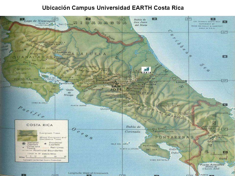 Ubicación Campus Universidad EARTH Costa Rica