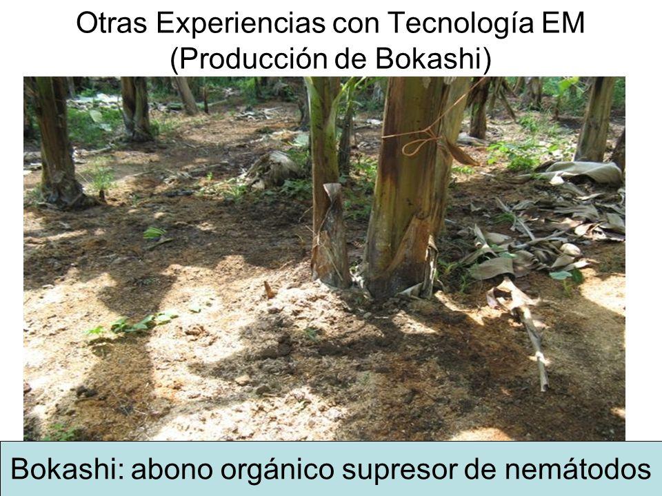 Otras Experiencias con Tecnología EM (Producción de Bokashi) Bokashi: abono orgánico supresor de nemátodos