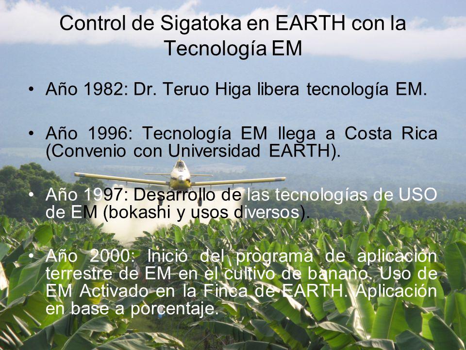 Año 1982: Dr.Teruo Higa libera tecnología EM.