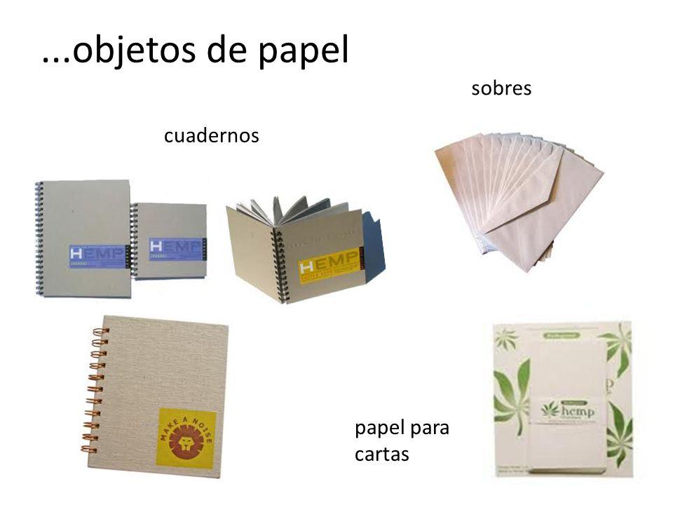 ...objetos de papel cuadernos sobres papel para cartas