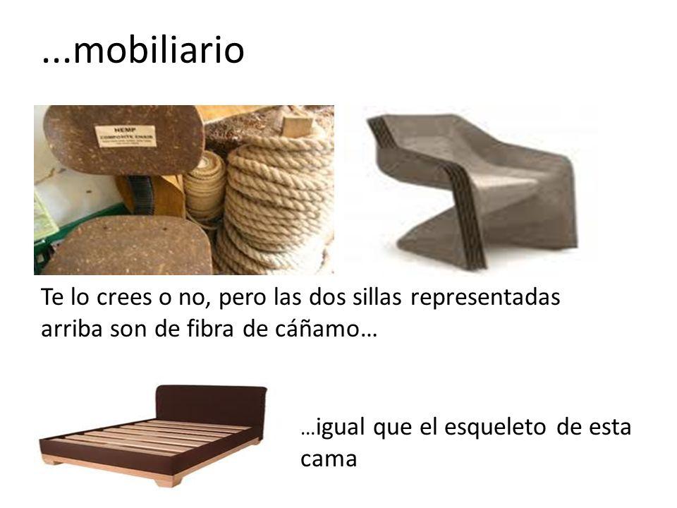 Te lo crees o no, pero las dos sillas representadas arriba son de fibra de cáñamo… … igual que el esqueleto de esta cama...mobiliario