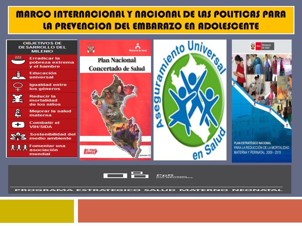 PLAN NACIONAL MULTISECTORIAL DE PREVENCIÓN DEL EMBARAZO NO PLANIFICADO EN ADOLESCENTE 2011-2021 5.
