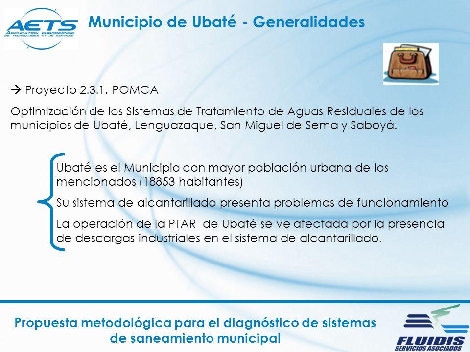 Propuesta metodológica para el diagnóstico de sistemas de saneamiento municipal Proyecto 2.3.1.