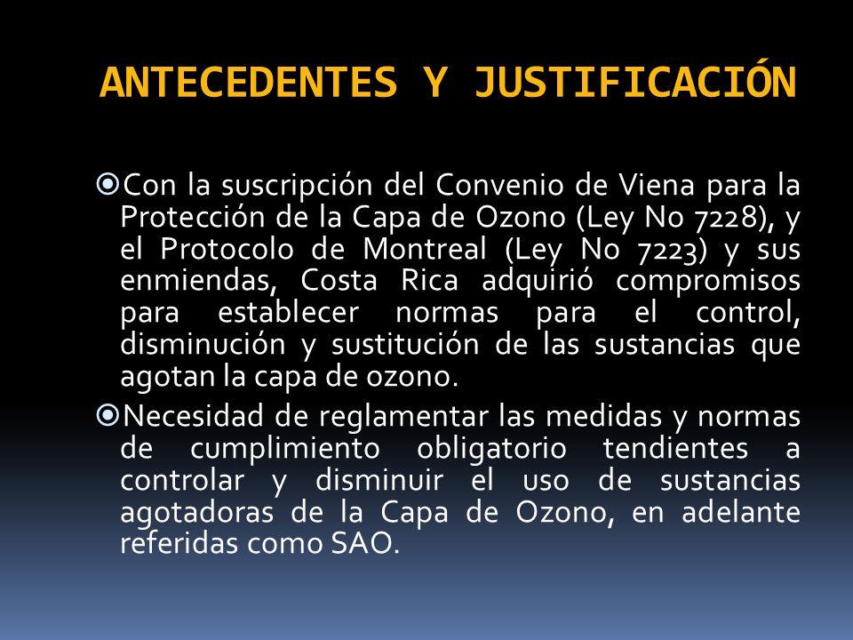 ANTECEDENTES Y JUSTIFICACIÓN Según la Sala Constitucional en sus votos No.
