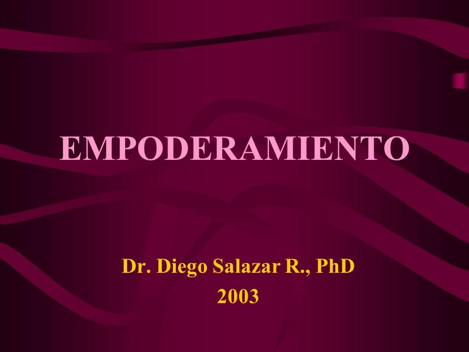 EMPODERAMIENTO Dr. Diego Salazar R., PhD 2003