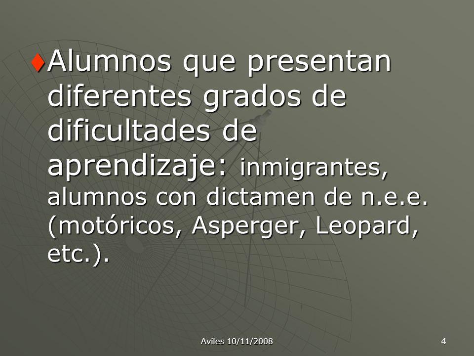 4 Alumnos que presentan diferentes grados de dificultades de aprendizaje: inmigrantes, alumnos con dictamen de n.e.e. (motóricos, Asperger, Leopard, e