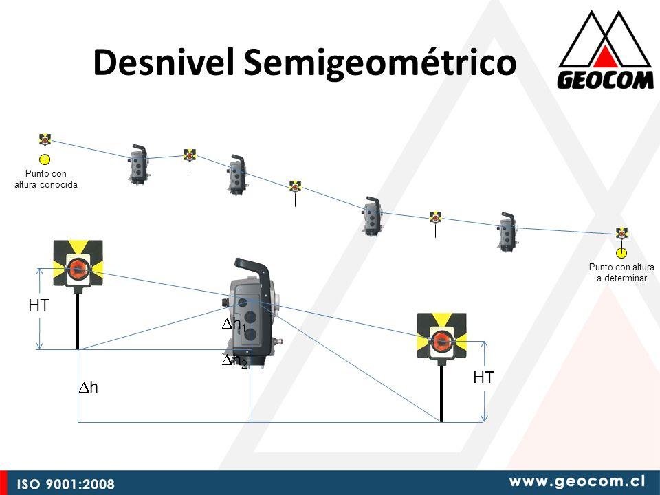 Desnivel Semigeométrico Punto con altura conocida h HT h 2 h 1 Punto con altura a determinar