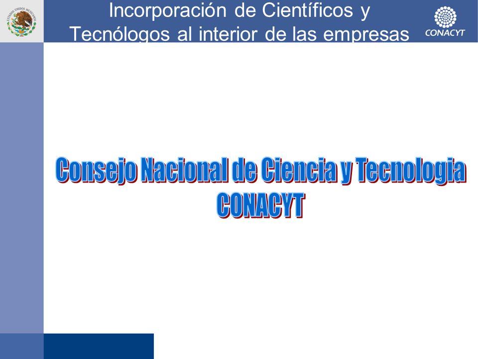 Incorporación de Científicos y Tecnólogos al interior de las empresas