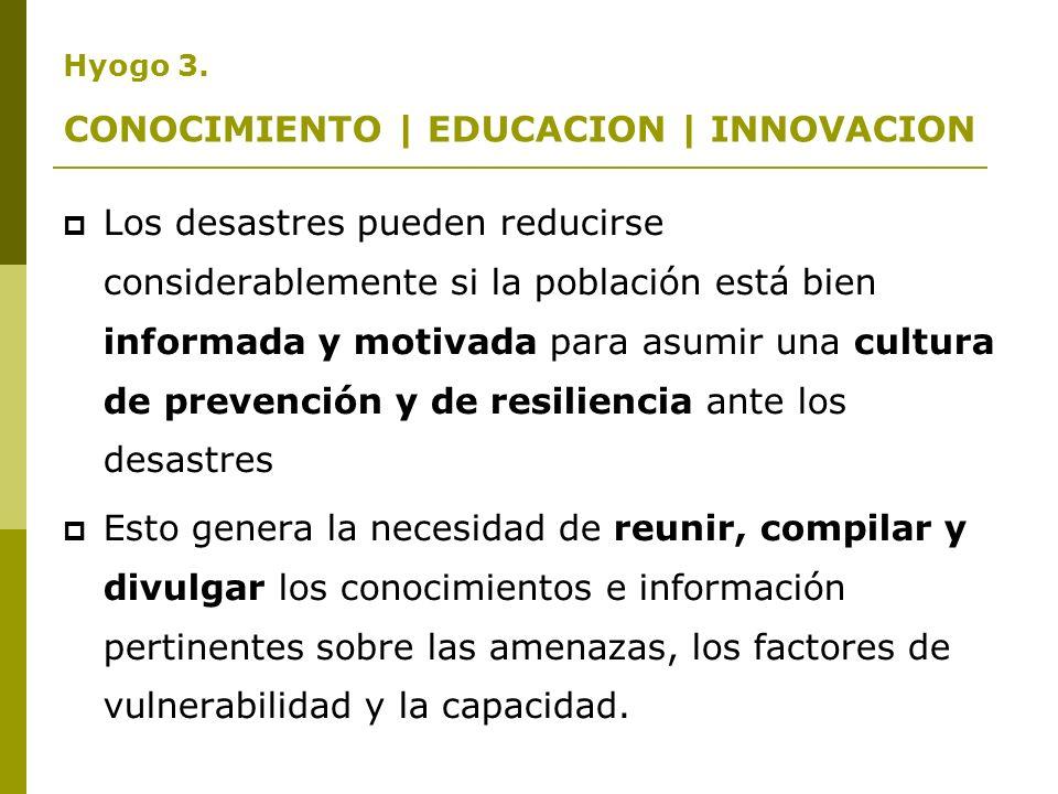 Marco de Acción de Hyogo |PRIORIDADES DE ACCION 1.Velar por que la reducción de los riesgos de desastre constituya una prioridad nacional y local dotada de una sólida base institucional de aplicación.