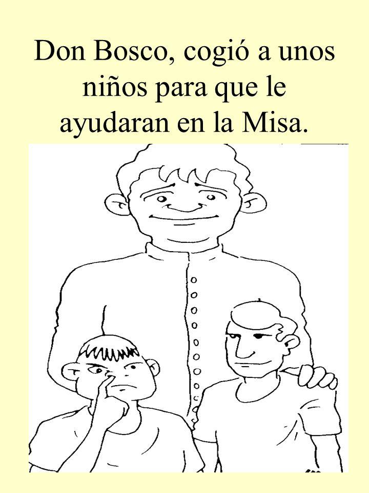 Don Bosco, cogió a unos niños para que le ayudaran en la Misa.