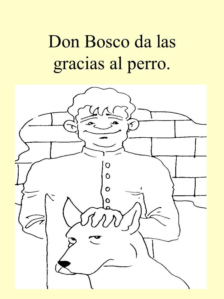 Don Bosco da las gracias al perro.