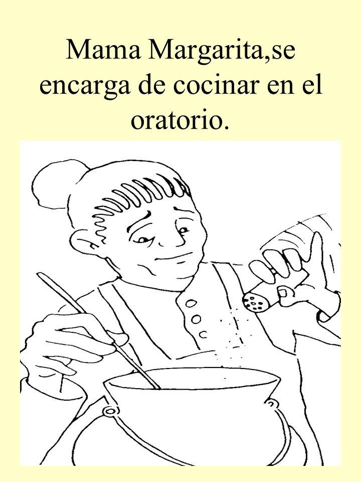 Mama Margarita,se encarga de cocinar en el oratorio.