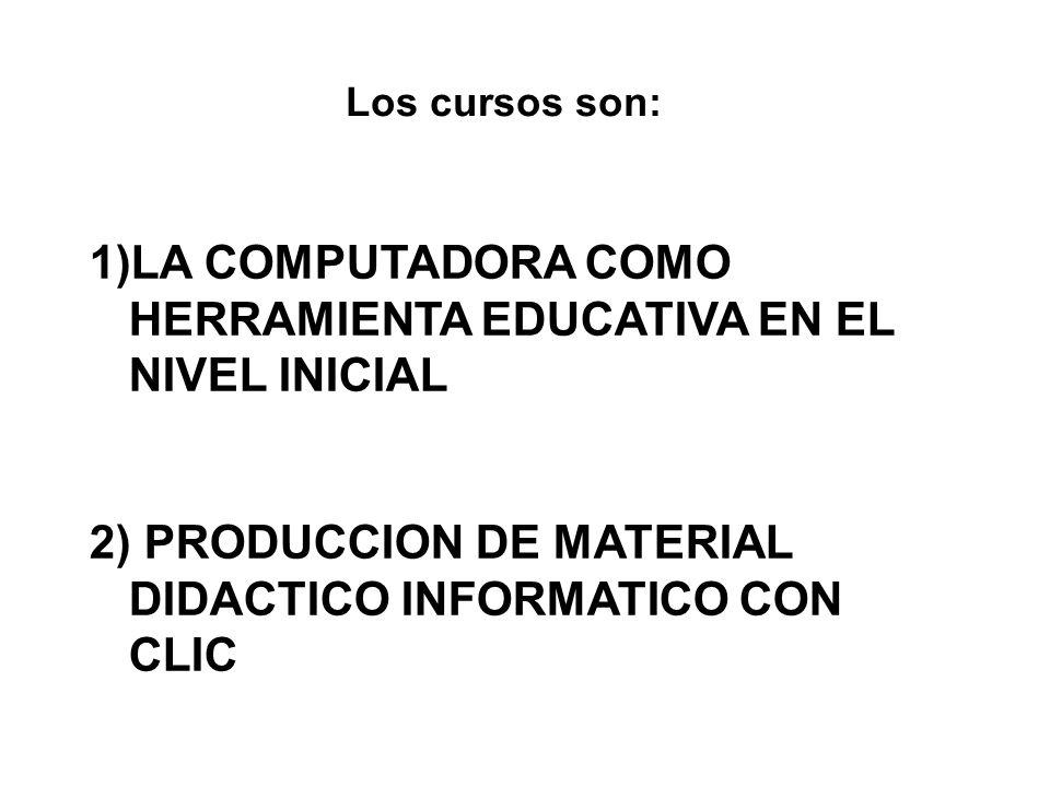 Curso 1- la computadora como herramienta educativa en el nivel inicial MODULO 1 – QUE ES Y PARA QUE SIRVE MODULO 2 – COMO IMPLEMENTARLA MODULO 3 – SOFT EDUCATIVO MODULO 4 – PROYECTOS RECURSOS SITIOS ETC