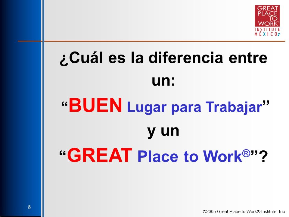 ©2005 Great Place to Work® Institute, Inc. 39 Competencias en Imparcialidad