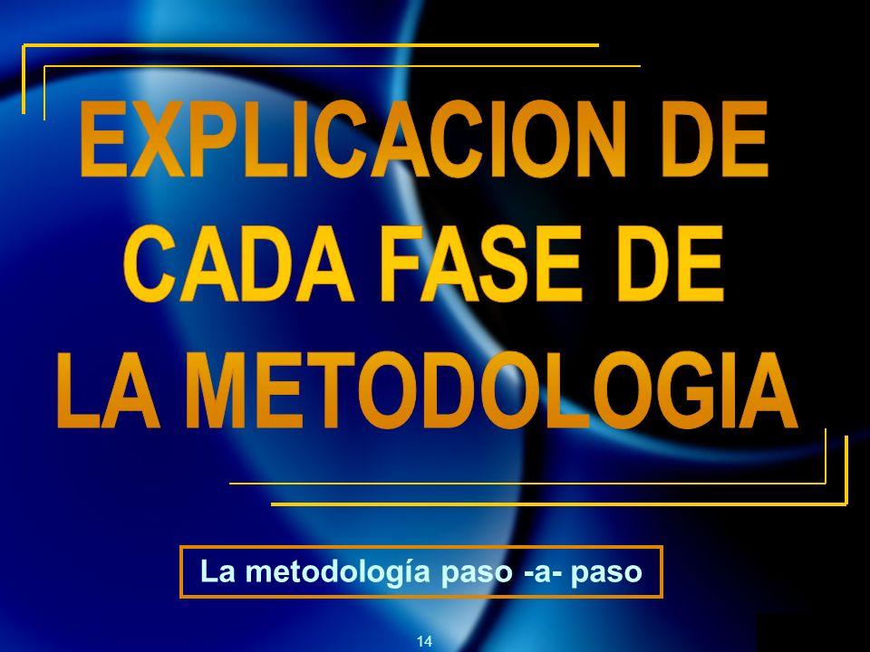 14 La metodología paso -a- paso