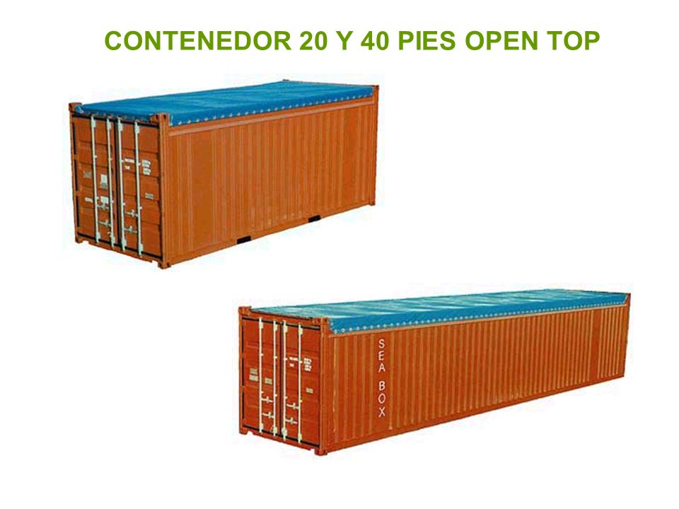 CONTENEDOR 20 Y 40 PIES OPEN TOP