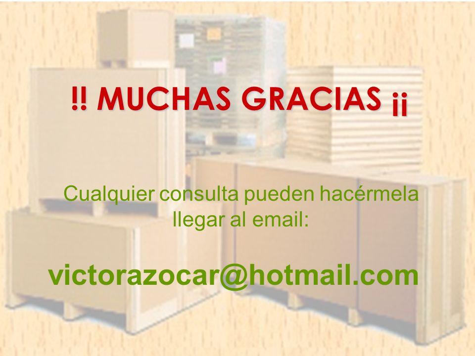 !! MUCHAS GRACIAS ¡¡ Cualquier consulta pueden hacérmela llegar al email: victorazocar@hotmail.com