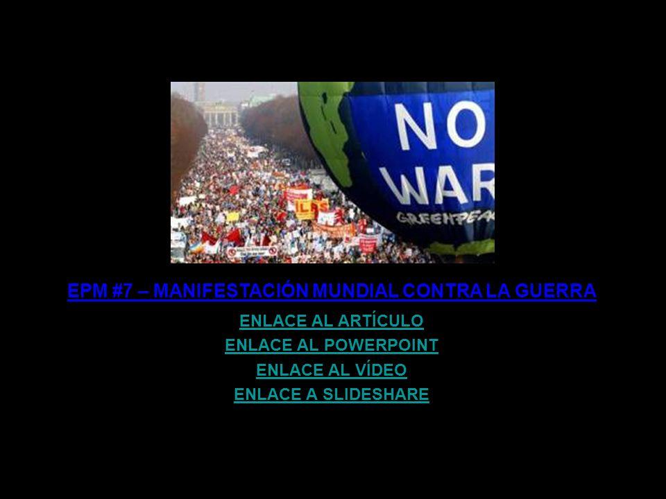 EPM #39 – Y EL OCTAVO DÍA, DIOS PRIVATIZÓ ENLACE AL ARTÍCULO ENLACE AL POWERPOINT ENLACE AL VÍDEO ENLACE A SLIDESHARE