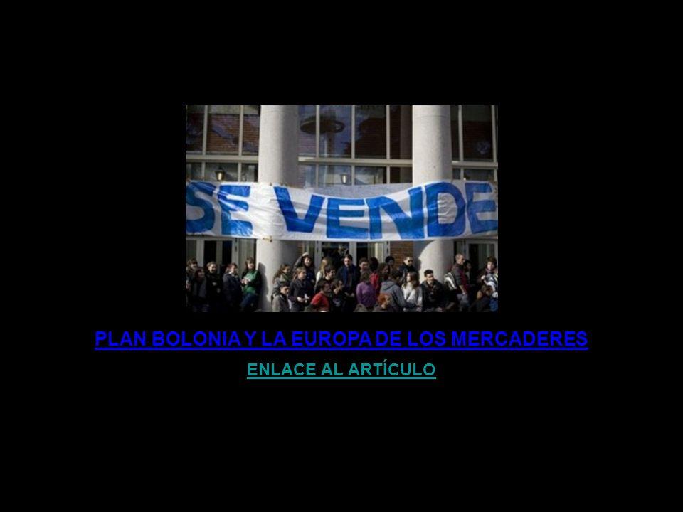 PLAN BOLONIA: UNIVERSIDAD S.A. ENLACE AL ARTÍCULO