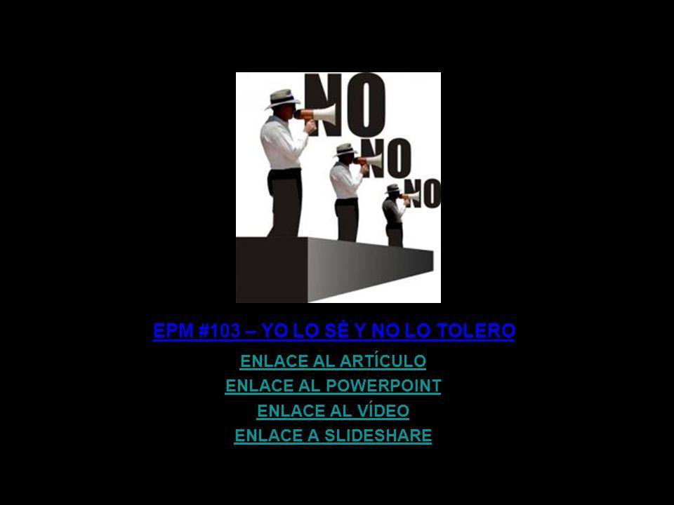 EPM #4 – VOCES IX: ARCADI OLIVERES ENLACE AL ARTÍCULO ENLACE AL POWERPOINT ENLACE A SLIDESHARE