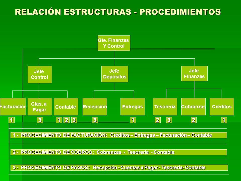 RELACIÓN ESTRUCTURAS - PROCEDIMIENTOS Gte.