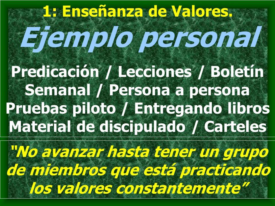1: Enseñanza de Valores.