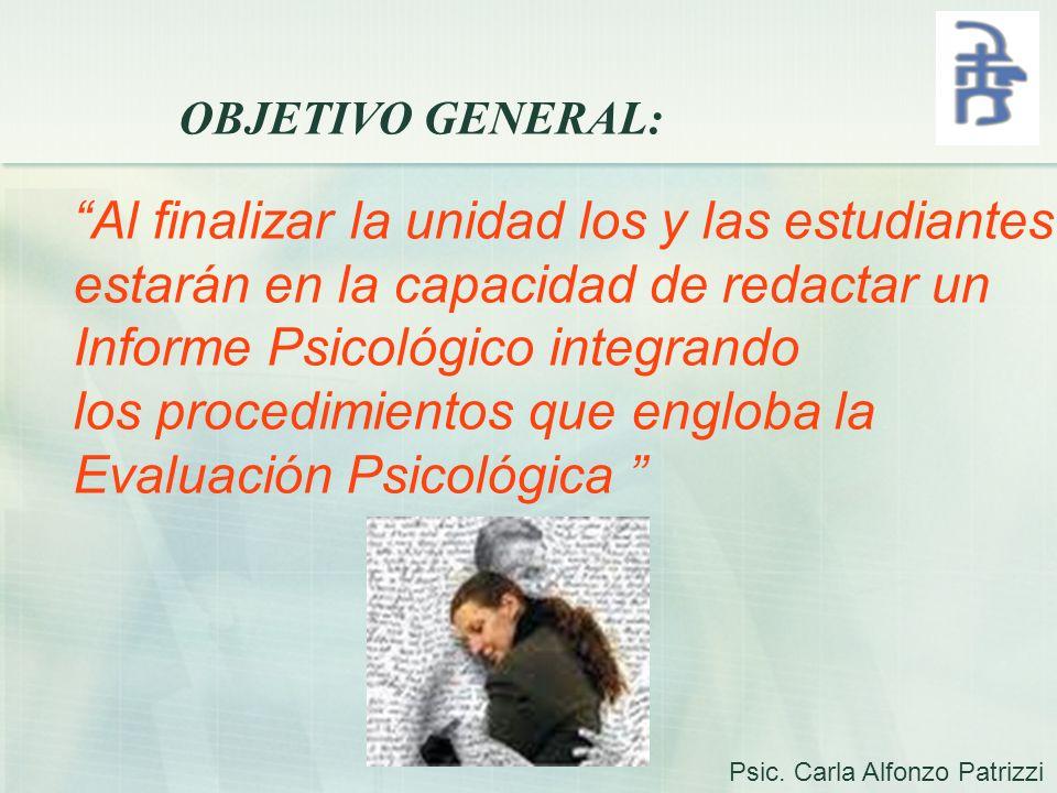 SOLUCIONES A LOS PROBLEMAS DEL INFORME PSICOLÓGICO 1.